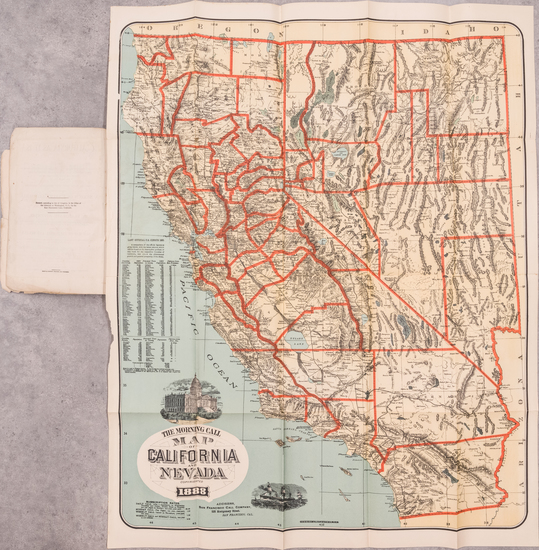 43-California Map By Schmidt Label & Litho. Co.