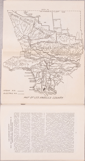 42-Los Angeles and Rare Books Map By Harry Ellington Brook