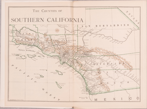 6-California, Los Angeles, San Diego and Other California Cities Map By Harry Ellington Brook