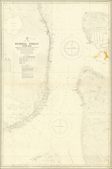 55-Florida and Bahamas Map By British Admiralty