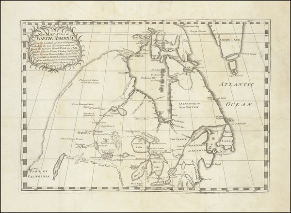 44-Polar Maps, Midwest, Plains, Pacific Northwest and Canada Map By Joseph La France