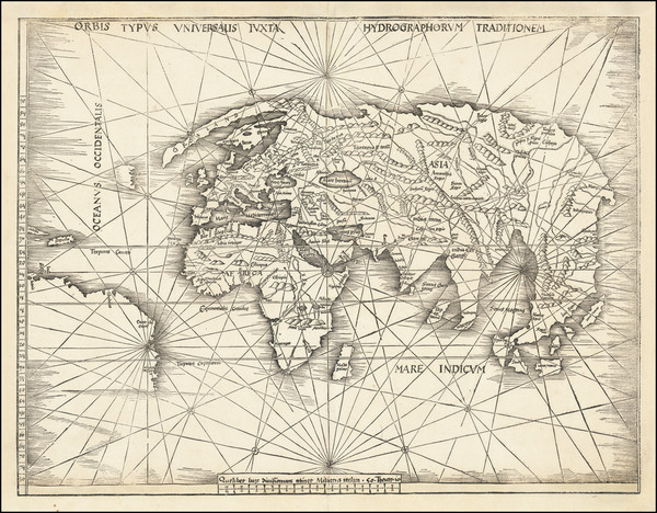 23-World Map By Martin Waldseemüller
