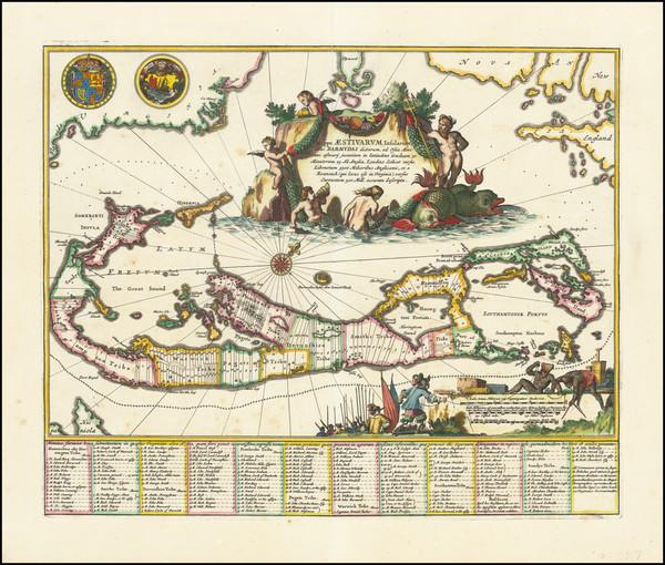 32-Bermuda Map By John Ogilby