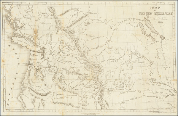0-Rocky Mountains, Oregon and Washington Map By Samuel Parker