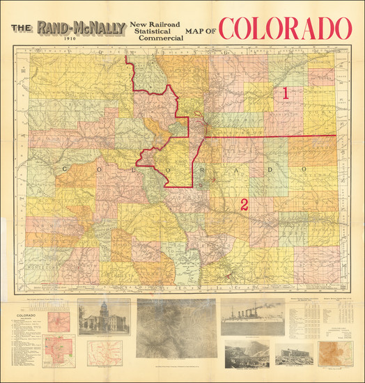 25-Colorado and Colorado Map By Rand McNally & Company