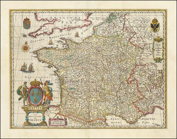 87-France Map By Willem Janszoon Blaeu