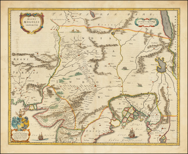 16-India and Central Asia & Caucasus Map By Willem Janszoon Blaeu