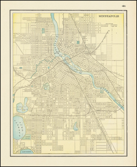 55-Minnesota Map By George F. Cram