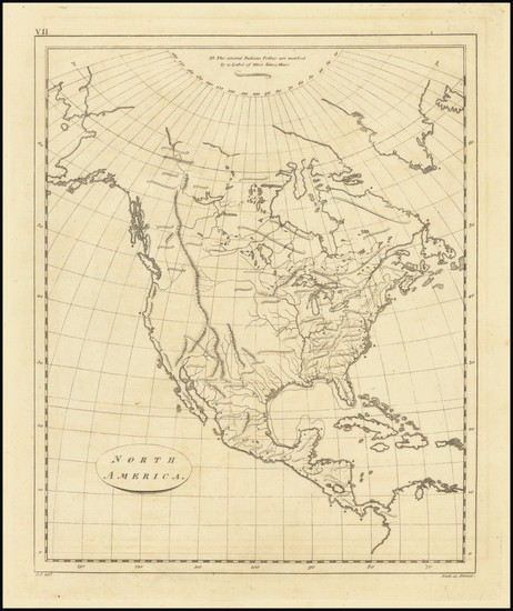 79-North America Map By S.I. Neele