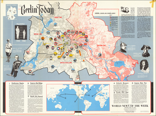 73-Germany, Pictorial Maps and World War II Map By News Map of the Week Inc.