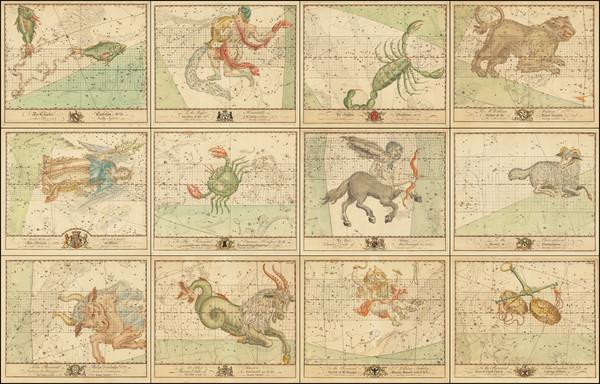 81-Celestial Maps Map By John Bevis