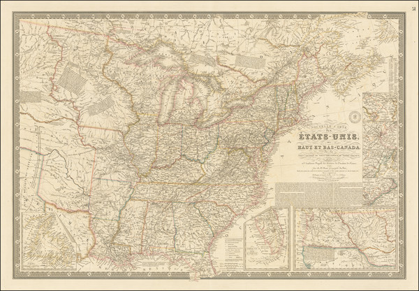 80-United States Map By Adrien-Hubert Brué