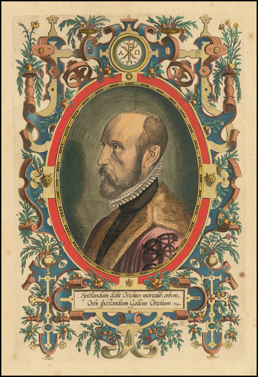 36-Portraits & People Map By Abraham Ortelius
