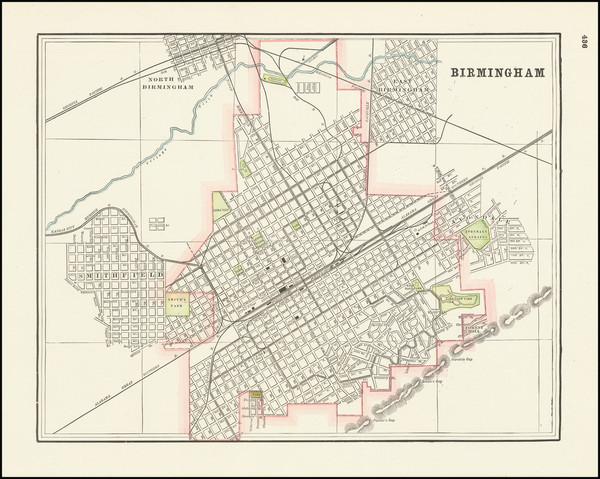 23-Alabama Map By George F. Cram