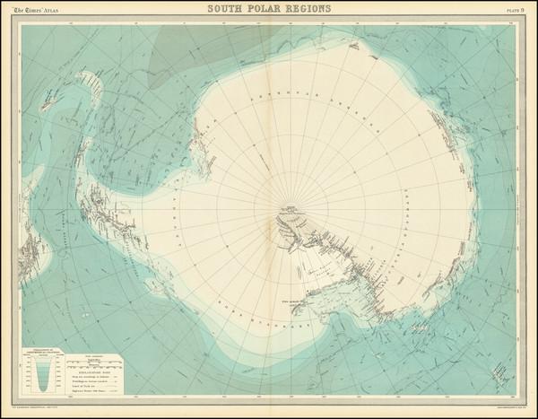 57-Polar Maps Map By John Bartholomew / Times Atlas