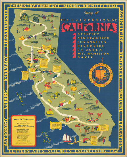 84-Pictorial Maps and California Map By S. Iachman