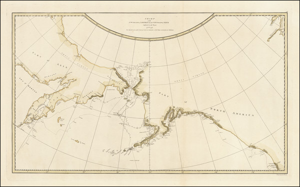75-Alaska, Pacific, Russia in Asia and Canada Map By James Cook