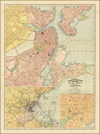 71-Boston Map By Rand McNally & Company