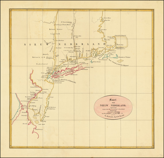 94-New England, Connecticut, Massachusetts, Rhode Island, New York State and New Jersey Map By Roe