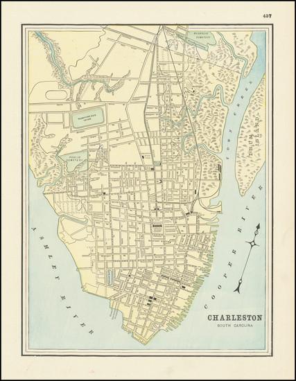 94-South Carolina Map By George F. Cram
