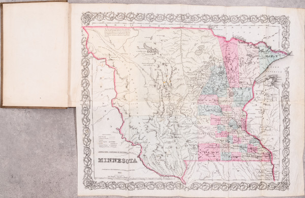 14-Minnesota, North Dakota and South Dakota Map By Joseph Hutchins Colton