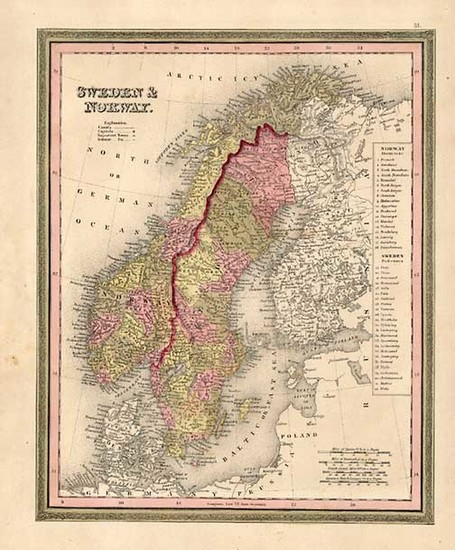 58-Europe and Scandinavia Map By Henry Schenk Tanner