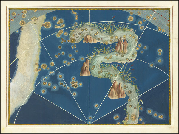 33-Celestial Maps Map By Johann Bayer