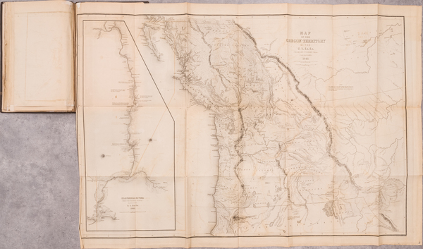 70-Pacific Northwest, Atlases and Rare Books Map By Charles Wilkes