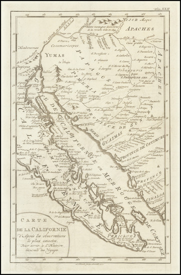 76-Southwest, Baja California and California Map By A. Krevelt