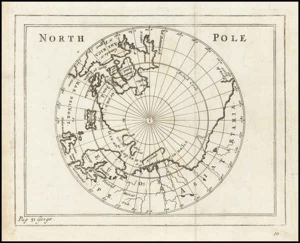 56-Polar Maps Map By Sir Jonas Moore