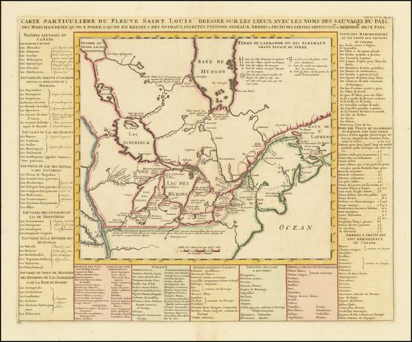14-Midwest, Plains and Canada Map By Henri Chatelain