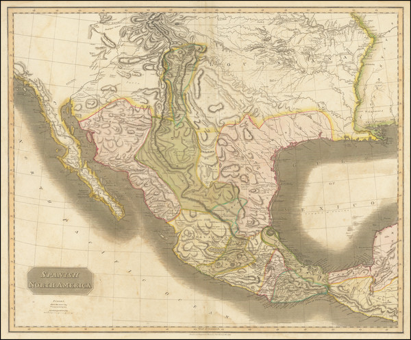 61-Texas, Plains, Southwest, Rocky Mountains and Mexico Map By John Thomson
