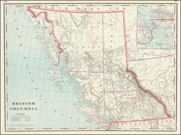 92-British Columbia Map By George F. Cram