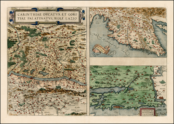 37-Hungary, Balkans and Italy Map By Abraham Ortelius