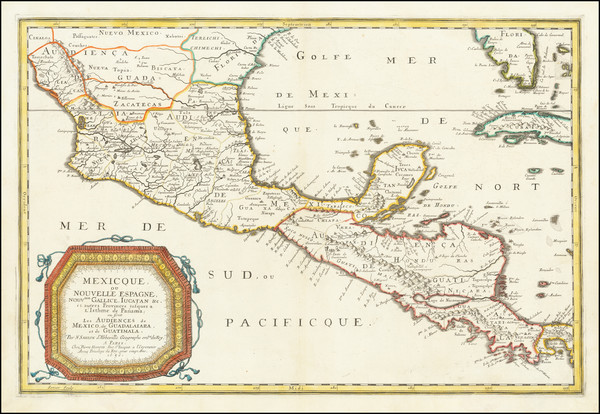 45-Florida and Mexico Map By Nicolas Sanson
