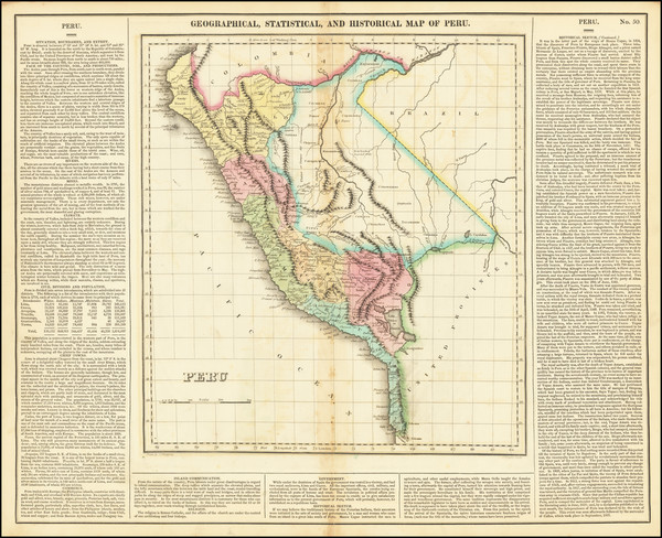 88-Peru & Ecuador Map By Henry Charles Carey  &  Isaac Lea