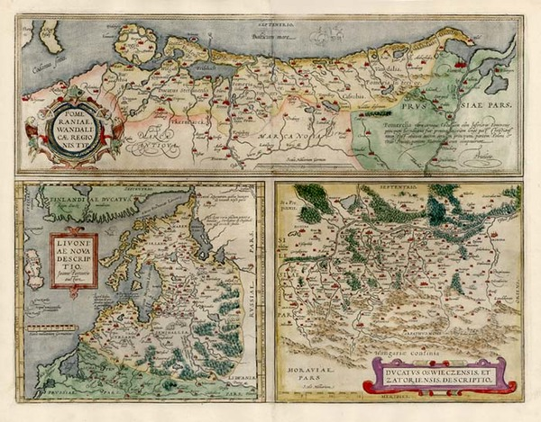 0-Europe, Germany, Poland, Romania and Baltic Countries Map By Abraham Ortelius