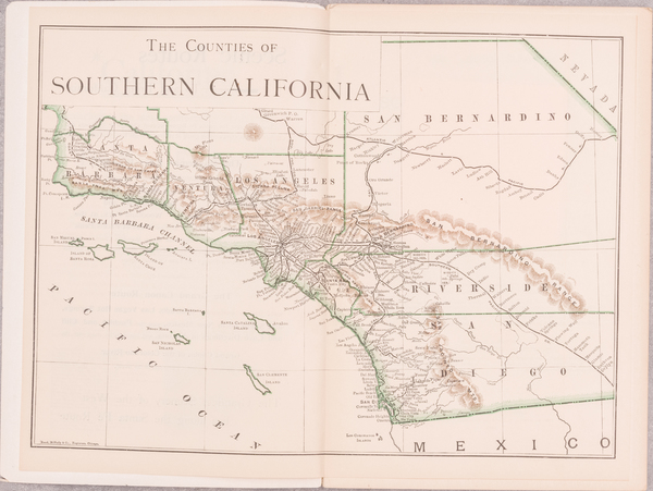 24-California, Los Angeles, San Diego and Other California Cities Map By Harry Ellington Brook