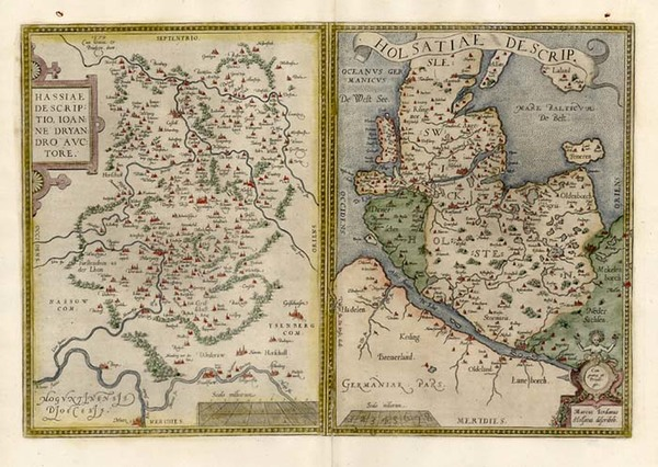 76-Europe and Germany Map By Abraham Ortelius