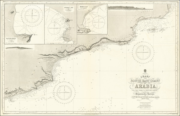 87-Arabian Peninsula Map By British Admiralty