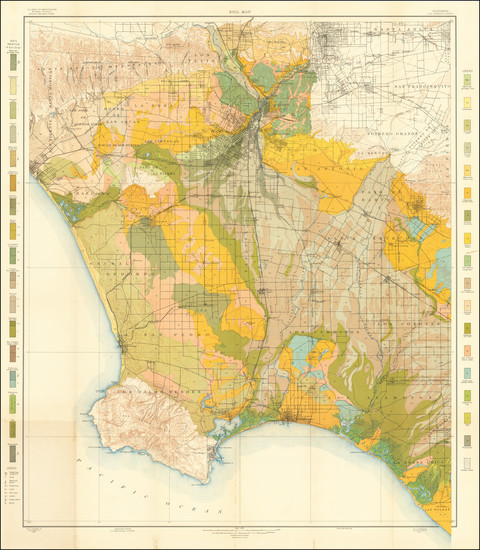 14-California and Los Angeles Map By U.S. Department of Agriculture