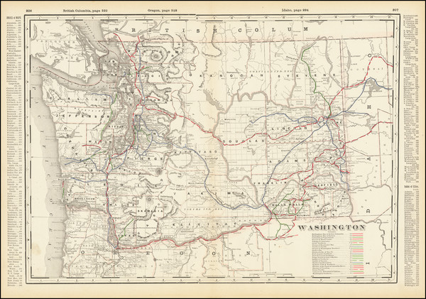 80-Washington Map By George F. Cram
