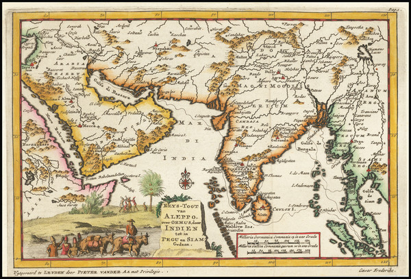 60-India, Thailand, Cambodia, Vietnam, Central Asia & Caucasus and Middle East Map By Pieter v