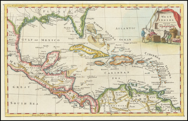 34-Florida and Caribbean Map By Thomas Jefferys