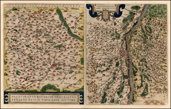 47-France and Germany Map By Abraham Ortelius