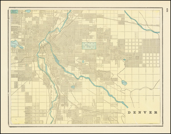 88-Colorado and Colorado Map By George F. Cram
