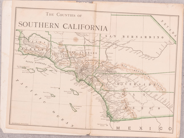 45-California, Los Angeles, San Diego and Other California Cities Map By Harry Ellington Brook