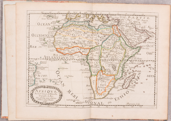 46-Africa and Atlases Map By Nicolas Sanson