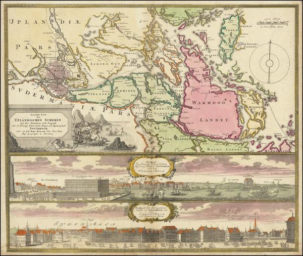 81-Sweden Map By Johann Baptist Homann