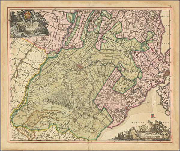 1-Netherlands Map By Justus Danckerts